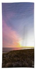 Beach Sunset West Dennis Cape Cod Hand Towel