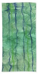 Beach Water Lines Hand Towel