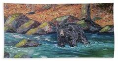 Bear Crossing Hand Towel
