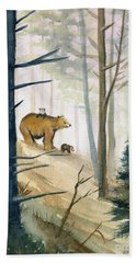 Bear Family 2 Bath Towel