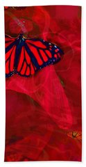 Beautiful And Fragile In Red Hand Towel