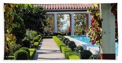 Beautiful Courtyard Getty Villa  Bath Towel
