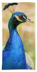 Beautiful Peacock Hand Towel