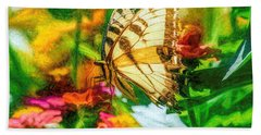Beautiful Swallow Tail Butterfly Hand Towel