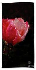 Beautiful Wet Rose Bath Towel