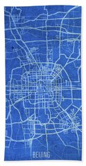 Beijing China City Street Map Blueprints Hand Towel