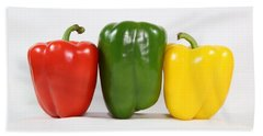 Bath Towel featuring the photograph Bell Pepper Support Group by Debi Dalio