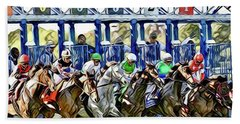 Belmont Park Starting Gate 1 Bath Towel