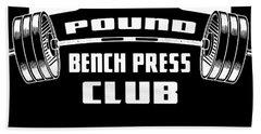 Bench Press Club Powerlifting Gym Bodybuilding Fitness Bodybuilding Hand Towel