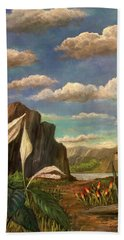 Beneath The Clouds Of Africa Bath Towel