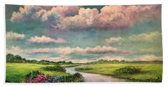 Beneath The Clouds Of Paradise Bath Towel