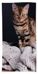 Bengal Cat Portrait Bath Towel