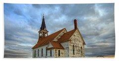 Bethel Scandinavian Lutheran Church At Sunset Hand Towel