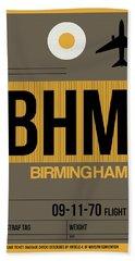 Bhm Birmingham Luggage Tag I Hand Towel