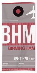 Bhm Birmingham Luggage Tag II Hand Towel