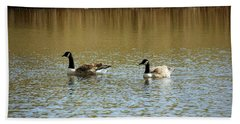 Bidston.  Bidston Moss Wildlife Reserve. Two Geese. Hand Towel