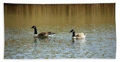 Bidston.  Bidston Moss Wildlife Reserve. Two Geese. Bath Towel