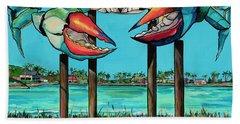 Big Blue Crab Rockport Bath Towel