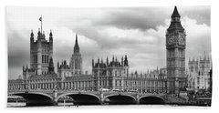 Big Clock In London Hand Towel