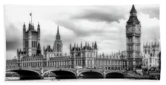 Big Clock In London Soft Hand Towel