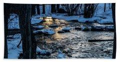 Big Hills Springs Under Snow And Ice, Big Hill Springs Provincia Bath Towel