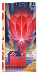 Big Red, Holland Michigan Hand Towel