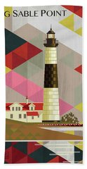 Big Sable Point Michigan Hand Towel