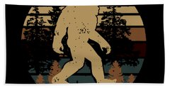 Bigfoot Does Not Believe In You Either Animals Science Bath Towel