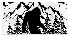 Bigfoot Saw Me But Nobody Believes Him Hipster Science Bath Towel