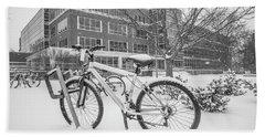 Bike And Msu Library  Bath Towel