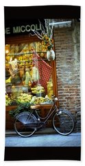 Bike In Sienna Bath Towel