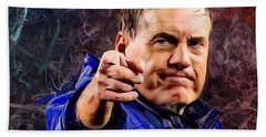 Bill Stephen Belichick Portrait Bath Towel