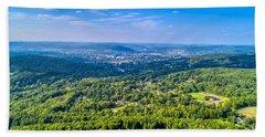 Binghamton Aerial View Bath Towel