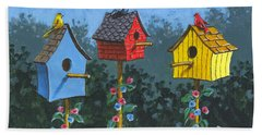 Bird House Lane Sketch Hand Towel