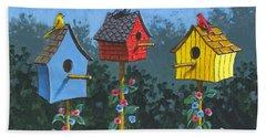Bird House Lane Sketch Bath Towel
