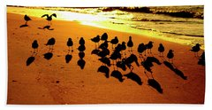 Bird Shadows Bath Towel