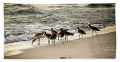 Birds On The Beach Bath Towel