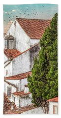 Birds Over Obidos Bath Towel