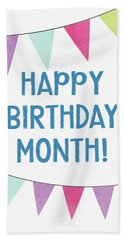 Birthday Month Flags- Art By Linda Woods Hand Towel
