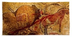 Bison Horse And Other Animals Closer - Narrow Version Hand Towel