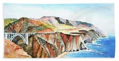 Bixby Bridge 3 Big Sur California Coast Hand Towel