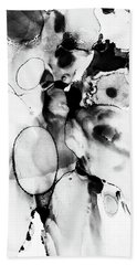 Black And White Abstract Hand Towel