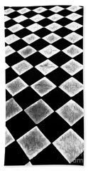 Black And White Floor Tile Hand Towel