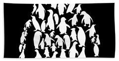 black and white for men or womens ocean Penguin science Bath Towel