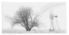 Hand Towel featuring the photograph Black And White Windmill 01 by Rob Graham