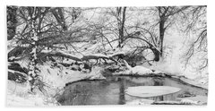 Hand Towel featuring the photograph Black And White Winter 01 by Rob Graham