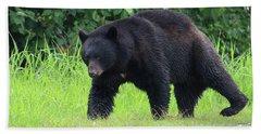 Black Bear Crossing Hand Towel