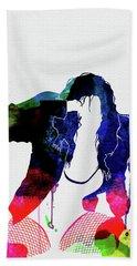 Black Eyed Peas Watercolor Hand Towel
