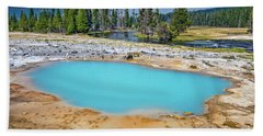 Black Opal Spring In Biscuit Basin Yellowstone Bath Towel