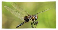 Black Saddlebags Dragonfly Bath Towel